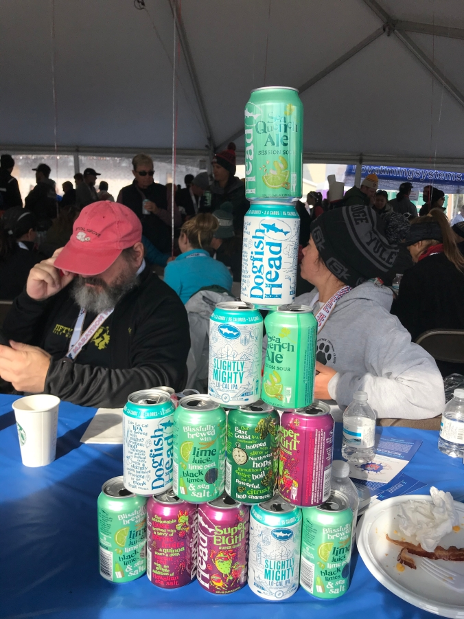 Dogfish Head beer at the Rehoboth Seashore Half Marathon after party!