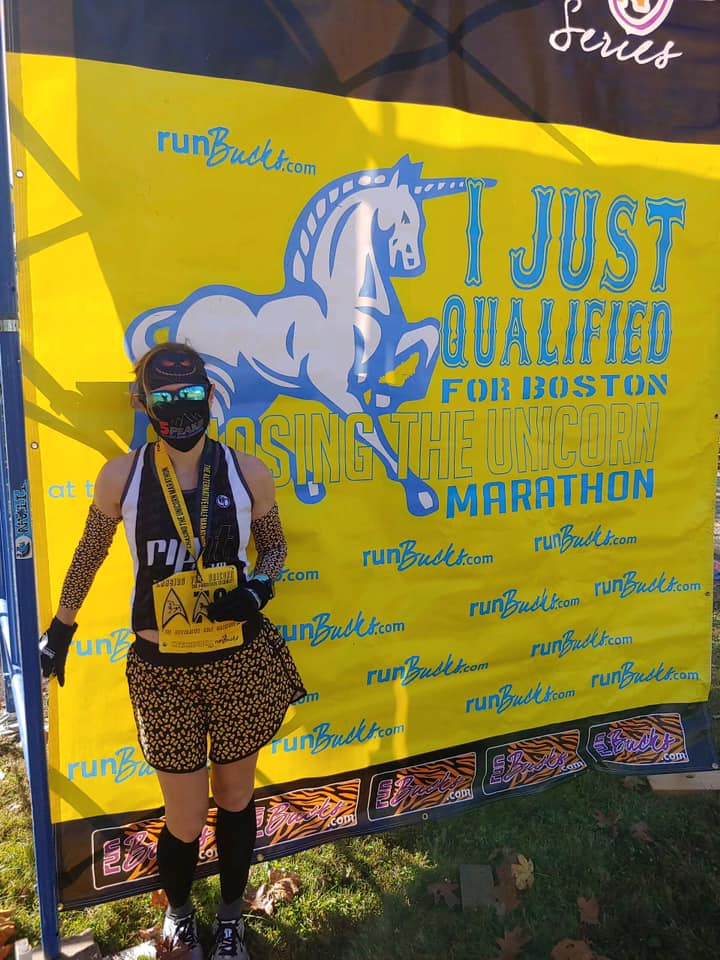 Boston qualifier at the Chasing the Unicorn Marathon